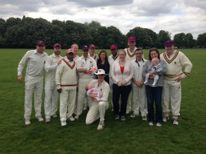 Team with Whalettes and first experience of Whalers cricket for Lottie Kirkness and Thomas Giles