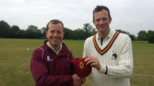 Cap presentation for Pip's 100th game, ably supported on the day by Mr English Snr and Winston the dog